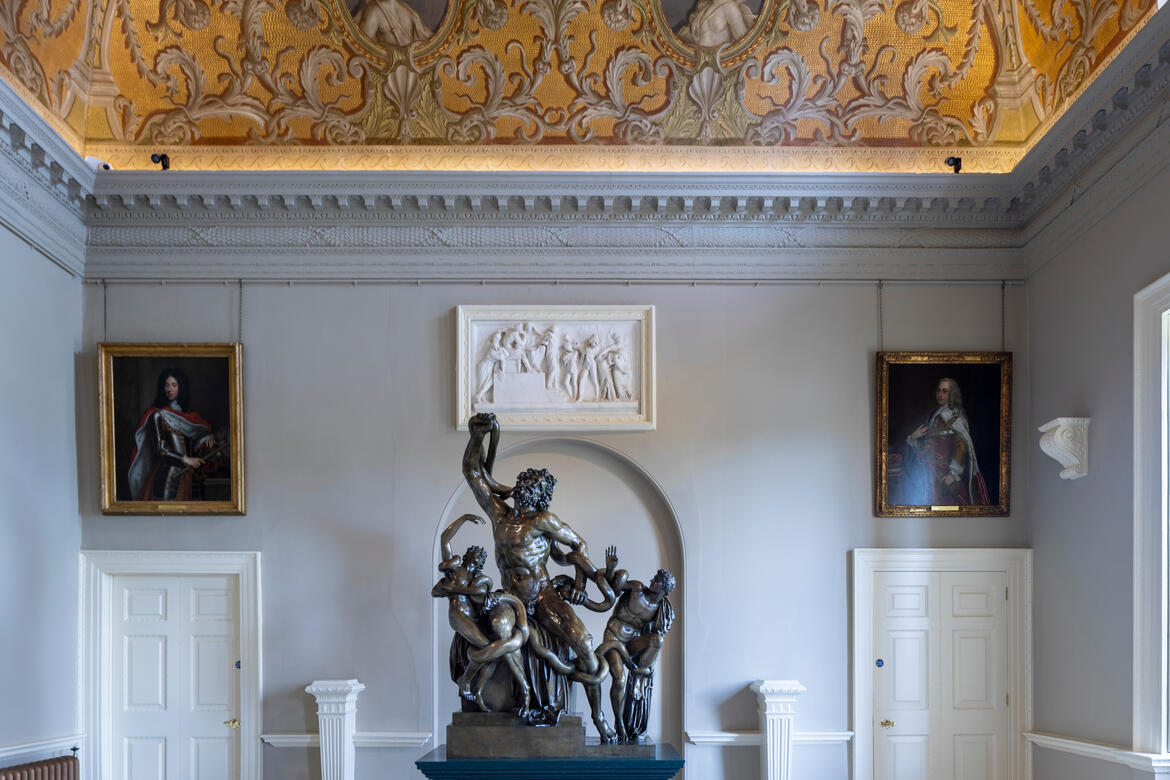 The Laocoön freshly installed. Photo by Andy Marshall.