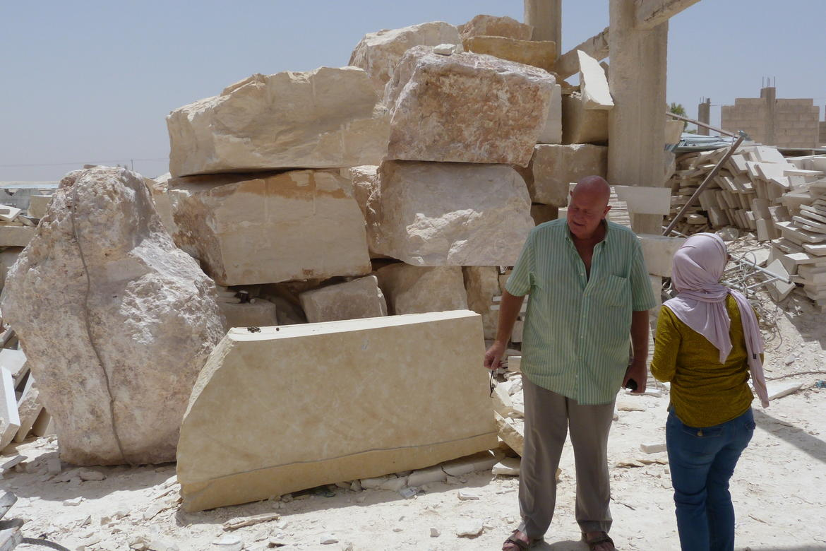 A visit to a stone-cutting yard in Jordan, 2017.
