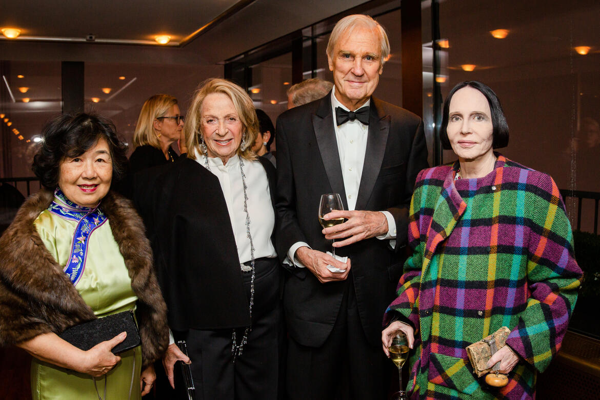 Helen Little, Daisy Soros, David Patrick Columbia, and Mary McFadden.