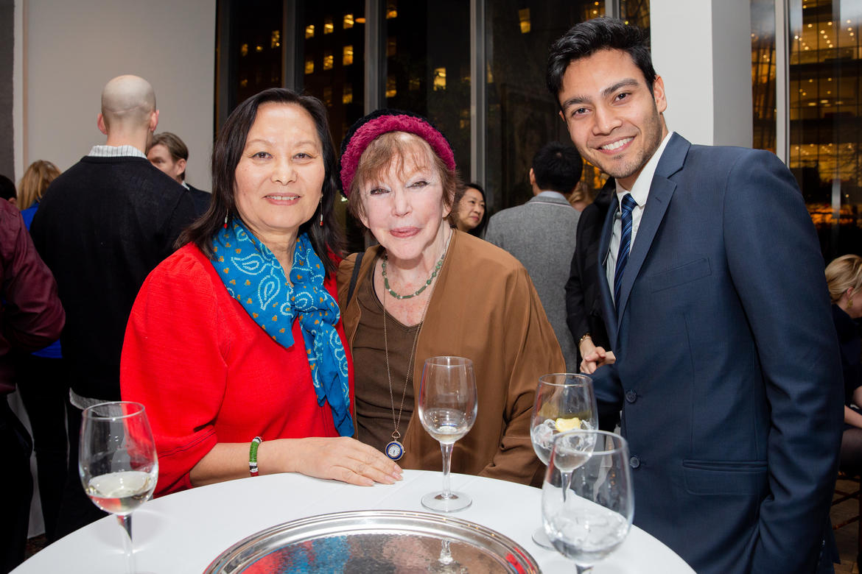 From left, Yanki Tshering, Hope Cooke, and Karan Basnet.