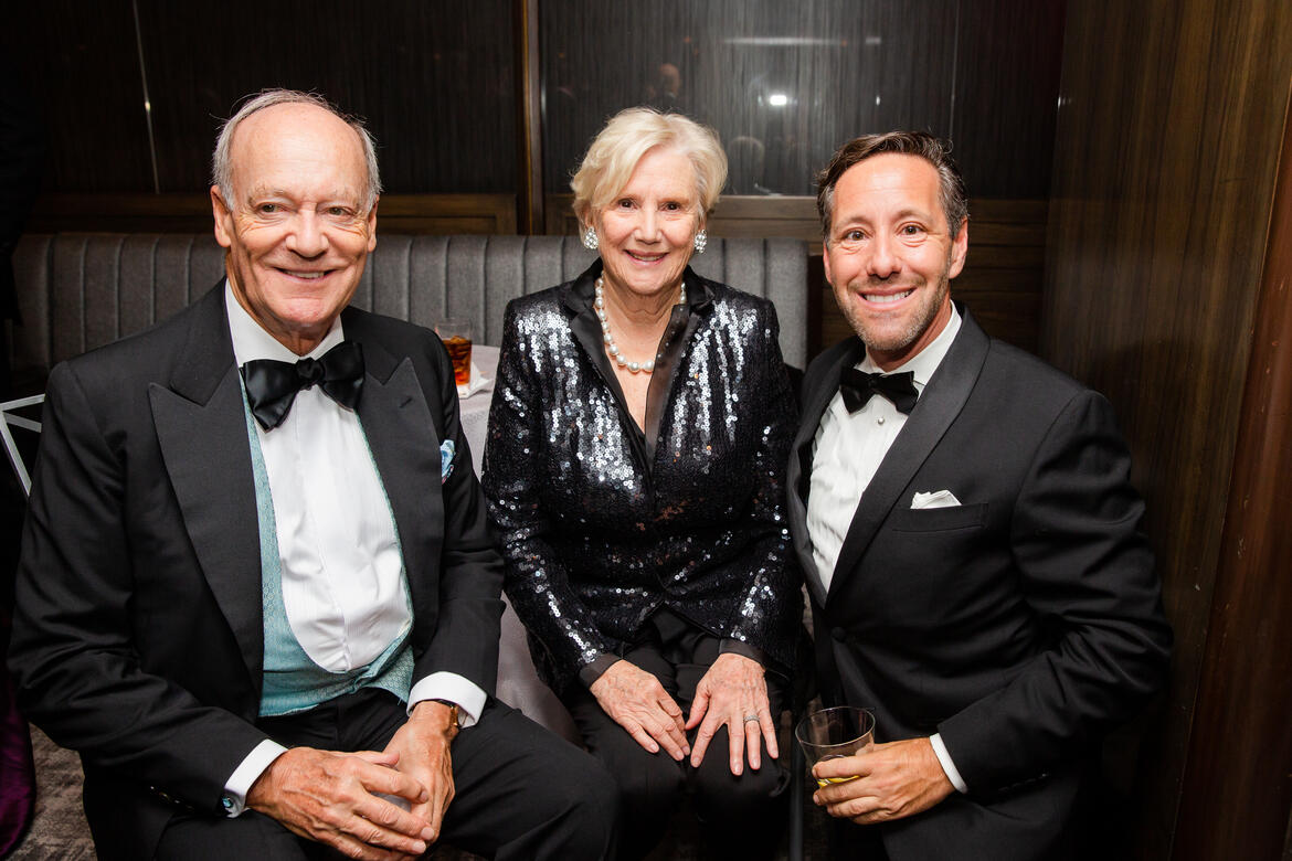 Prince Amyn Aga Khan, Lorna Goodman, and Anthony Thompson.