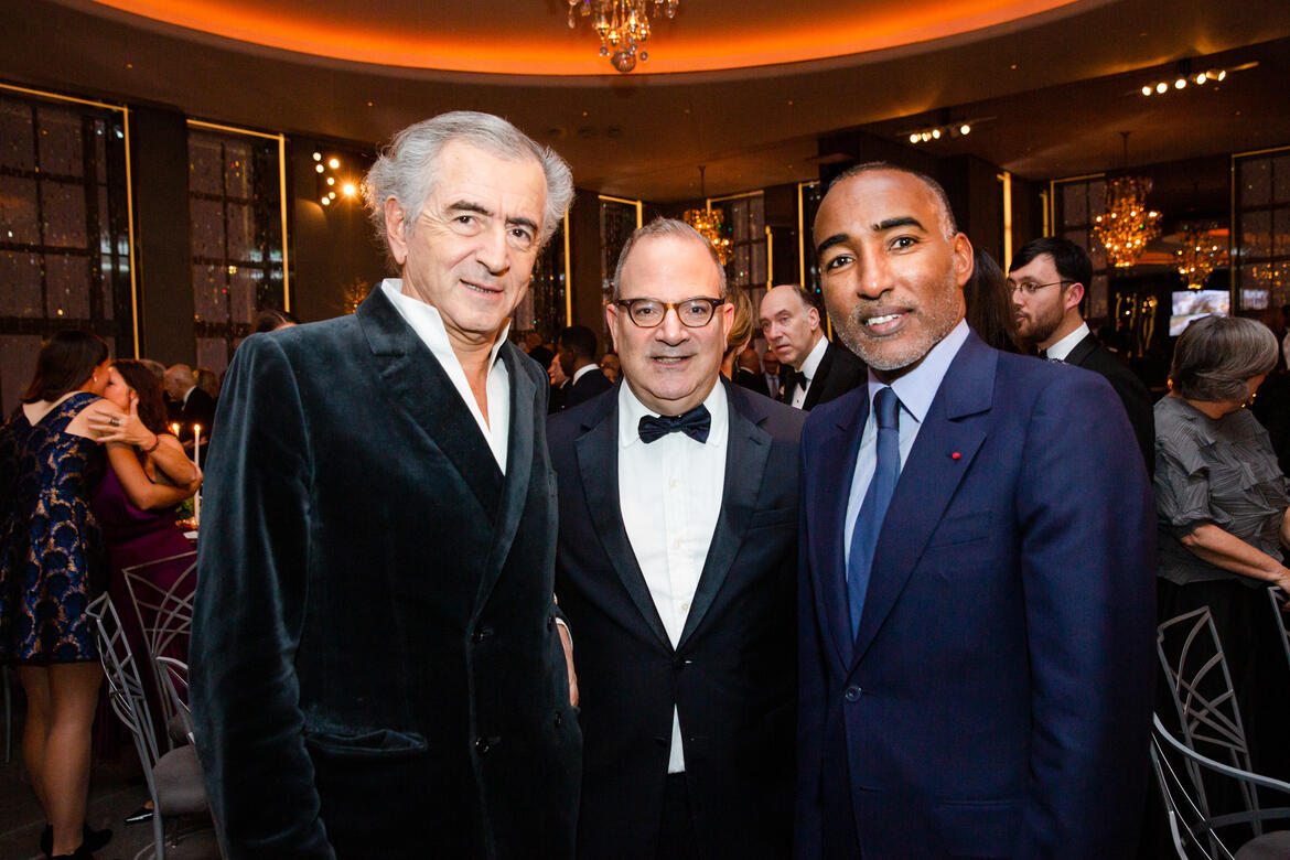 Bernard-Henri Lévy, James Reginato, and Abakar Manany.