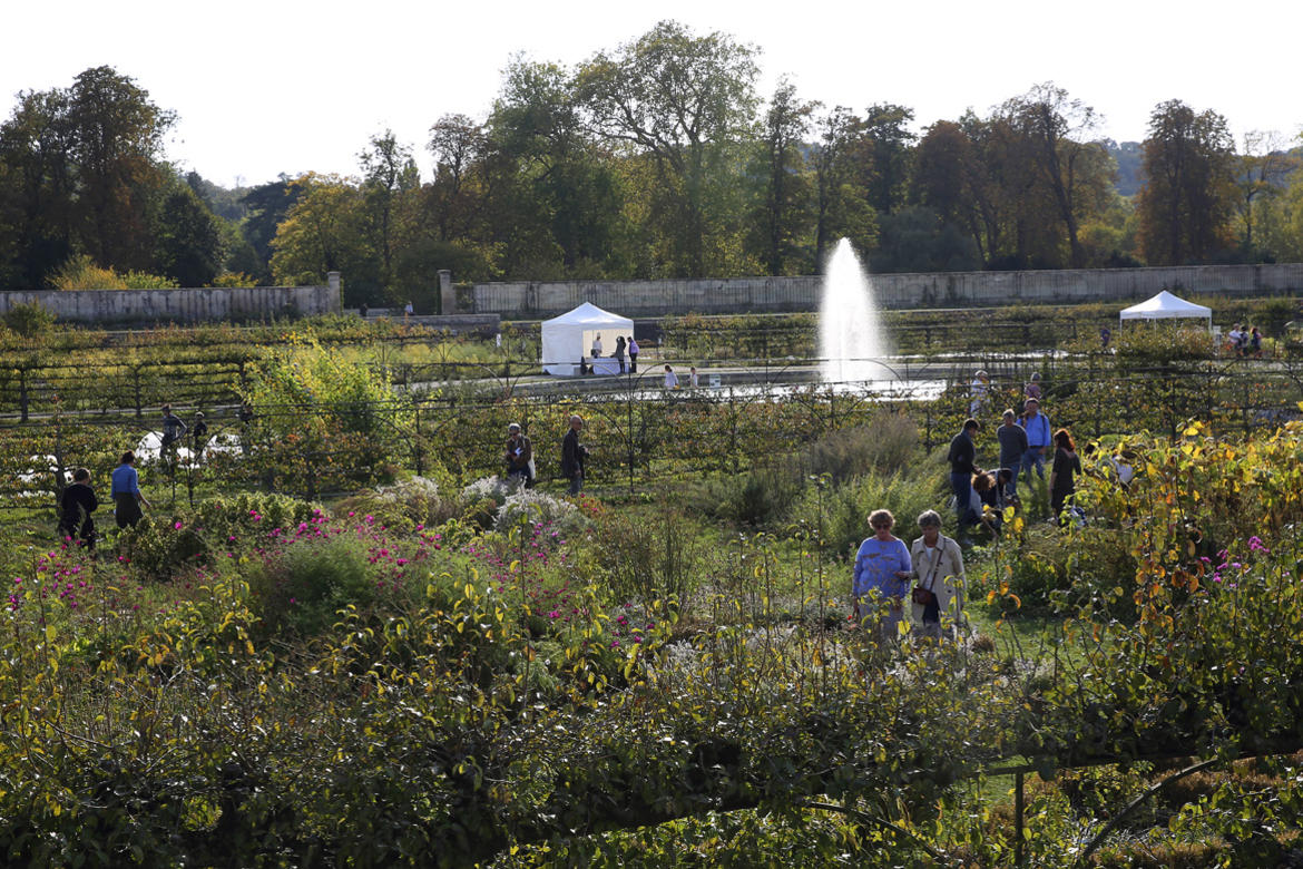 Visitors walk through the Potager du Roi during its recent Watch Day.