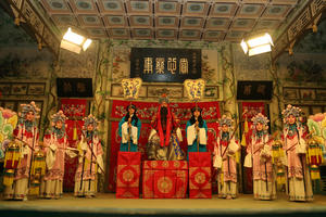 Performers at the Grand Theater at Prince Kung's Mansion, Beijing, China.