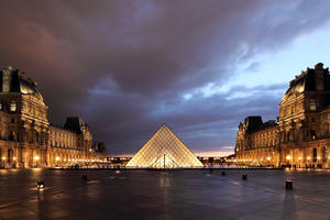 I.M. Pei's pyramid at the Louvre Museum, Paris (1989)