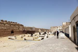 A park has replaced some structures within the Jewish Quarter of Essaouira.