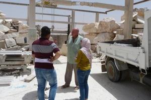 A visit to a stone-cutting yard in Jordan, 2017.