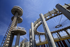 The New York State Pavilion is one of the modern sites included on the World Monuments Watch since 1996.