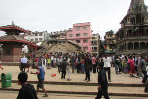 Char Narayan Temple, Nepal, after the April 25, 2015, earthquake