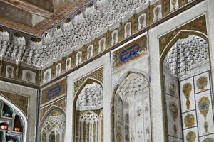 Interior view of a traditional traditional house in the historic center of Bukhara, Uzbekistan