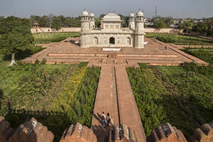 The Mughal Gardens of Agra, India, completed in January 2019.