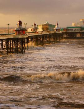 Blackpool Piers, Blackpool, UK