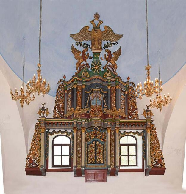 The aron kodesh of the Great Synagogue of Iasi, Romania after restoration