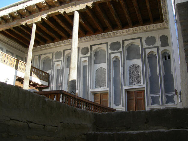 Facade of a traditional Bukharian house, 2020