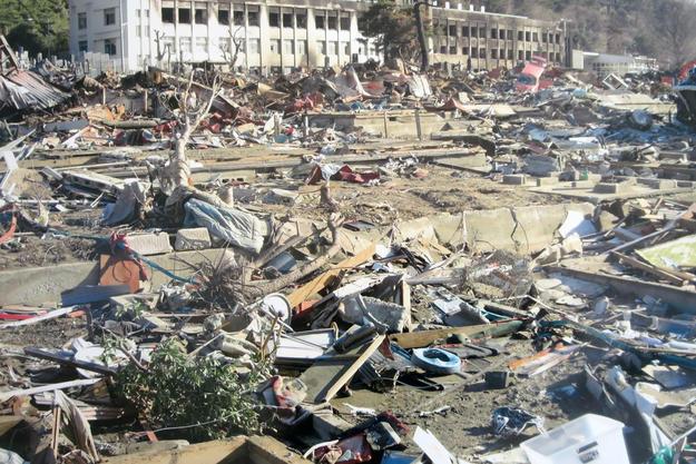 Tsunami in Ogatsu,  2011