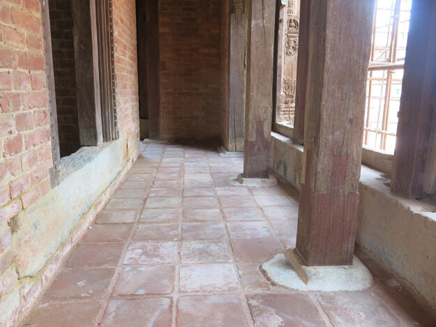 Char Narayan laying floor tiles completed, 2019