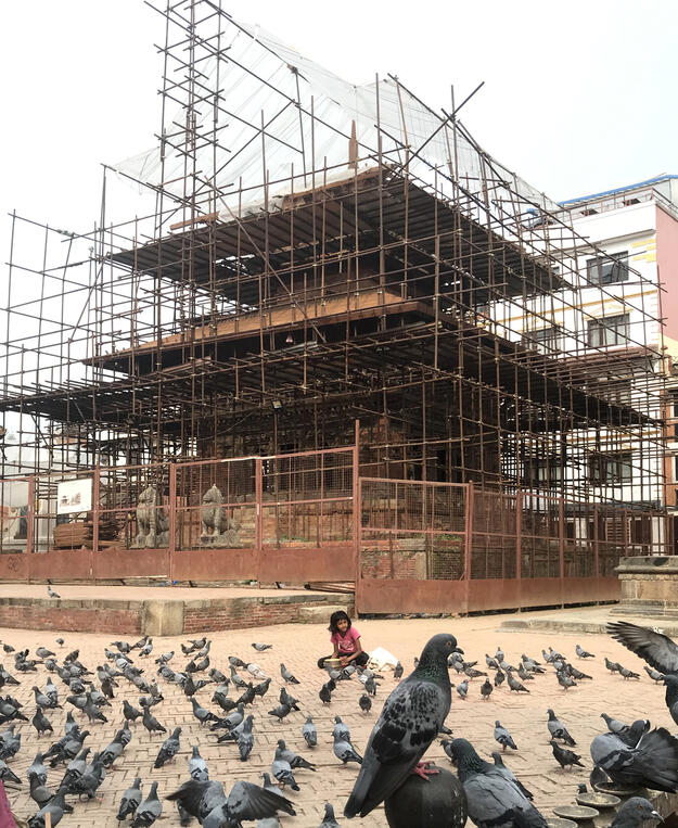 Char Narayan restoration progress, 2019
