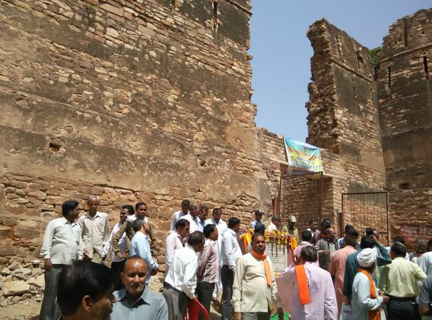 Launch of site conservation work, Gohad Fort