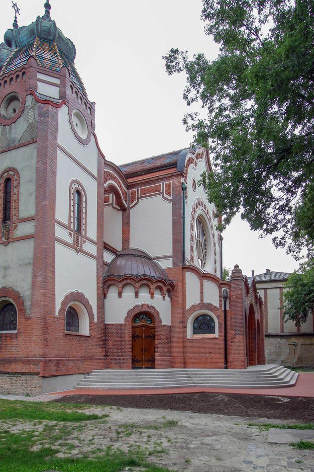 Side entrance on Southwest façade after restoration, 2014