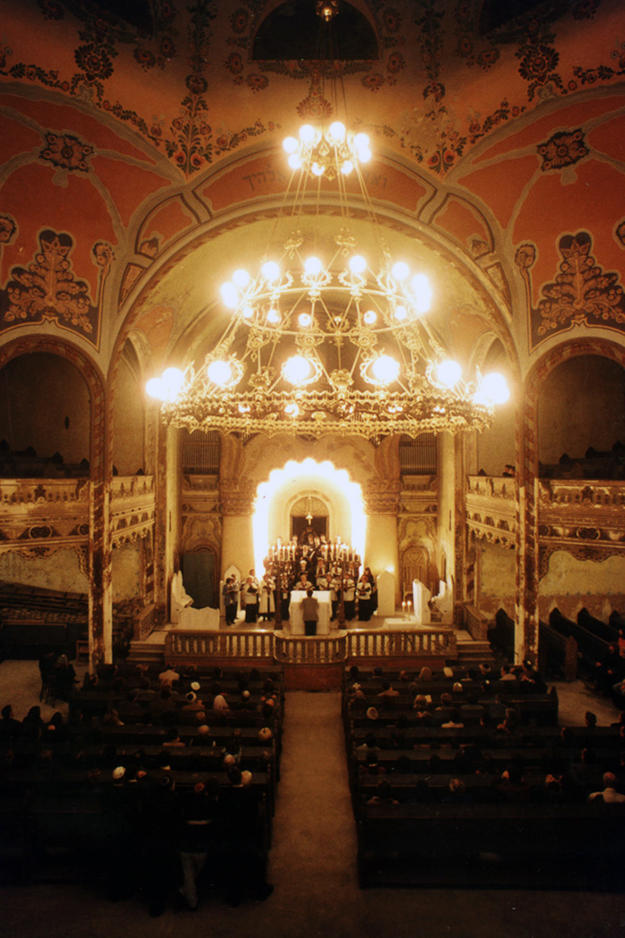 Interior of the Synagogue during music performance, 2014