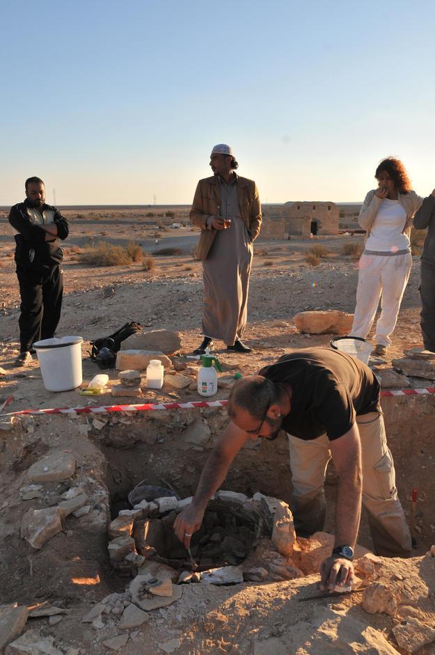 Conservators stabilize archaeological remains, 2012