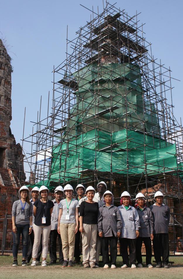 WMF team at Wat Chaiwatthanaram, March 2017