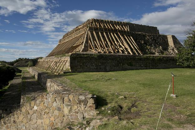 Monte Albán, structure after September 2017 earthquakes.