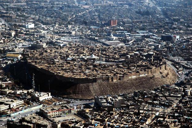 Aerial of Erbil Citadel, photo courtesy of HCECR