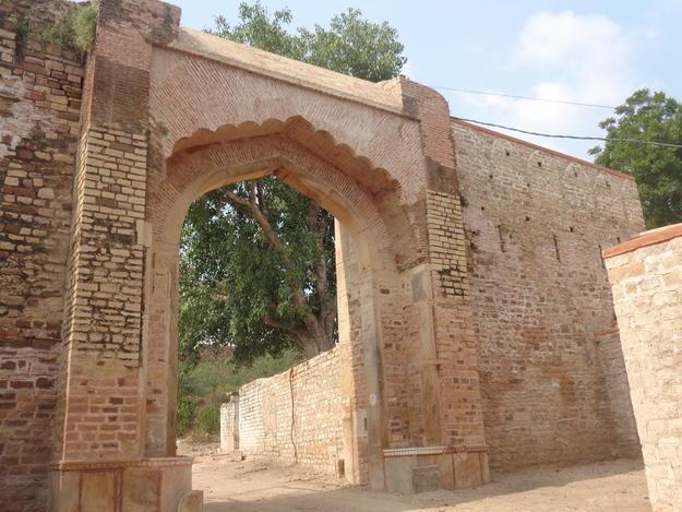 Eastern facade of Hathai Paur (Elephant Gate), after restoration