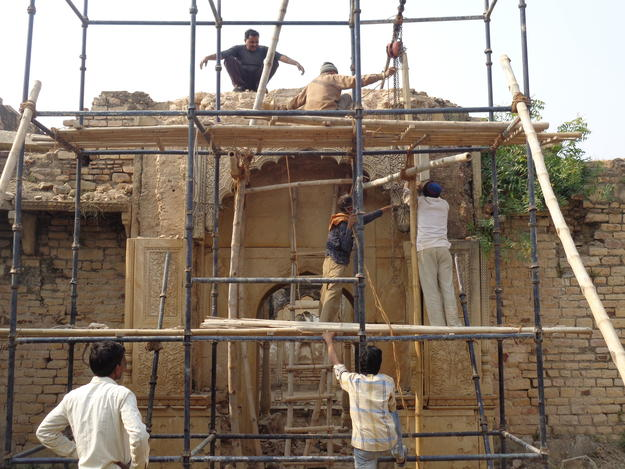 Restoration of Entrance gate of hamam (bath)