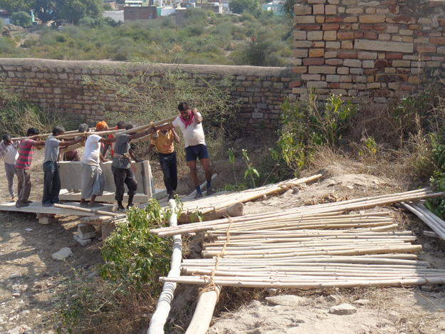 Carrying roof slabs during conservation
