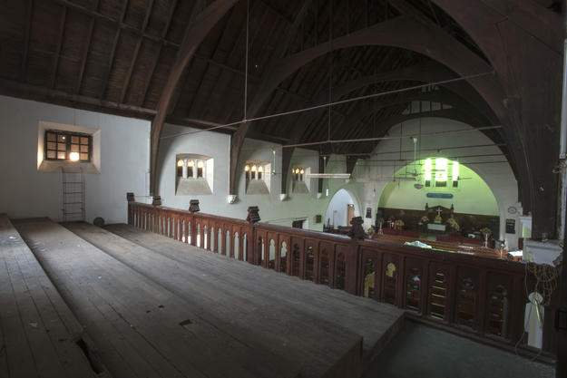 View of nave from the first floor balcony, 2016. Photo: Tim Webster.