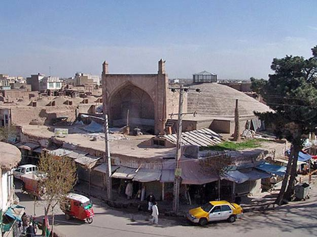The restored Char Suq cistern, which dates from the Safavid era and is now used for cultural events, is an example of the potential of adaptive reuse of historic property., January 2009