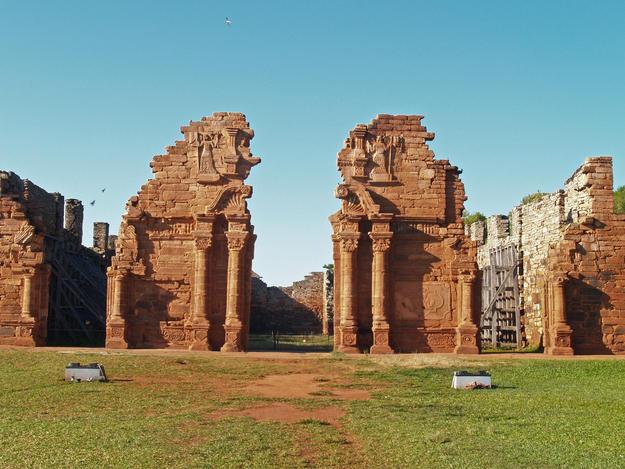 The portal of San Ignacio Miní from a distance, 2007