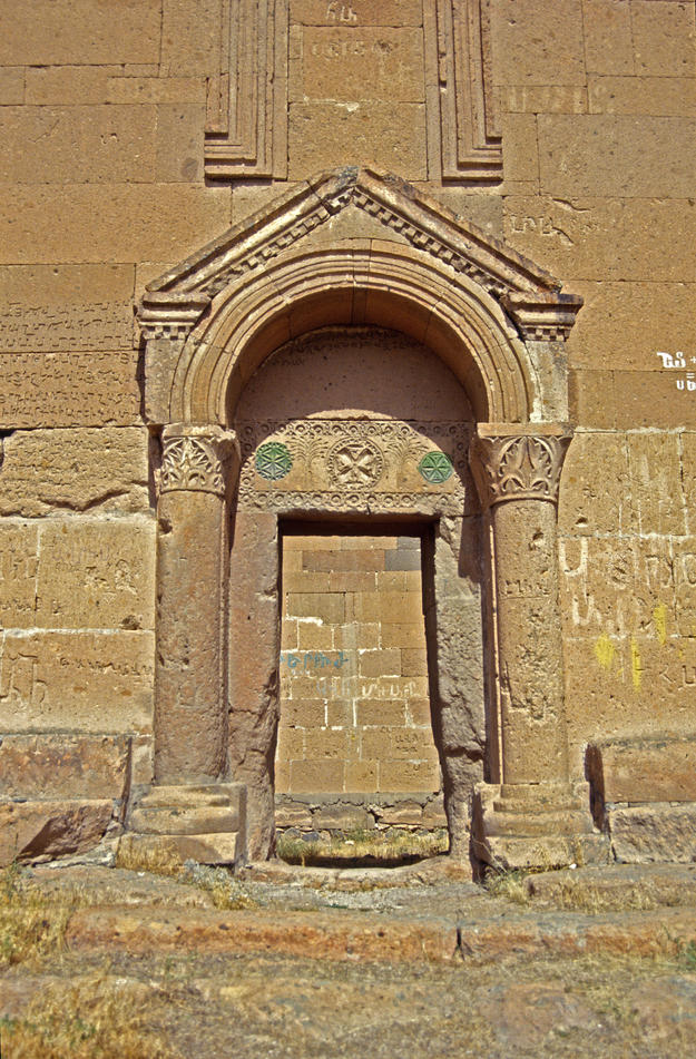 A detailed view of a doorway, 1995