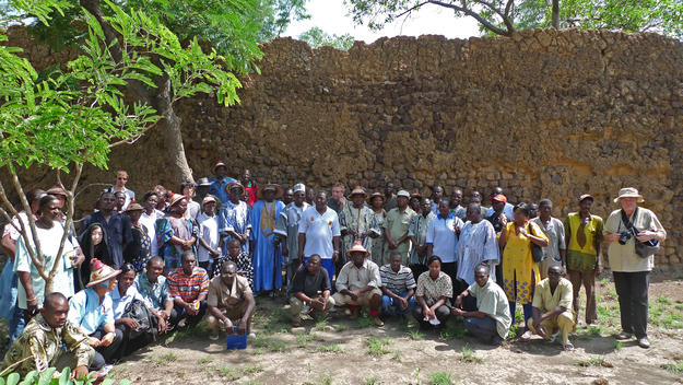 Community members involved in the planning and conservation of the site gather together, 2009