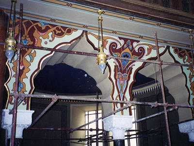 Interior during conservation, 2002