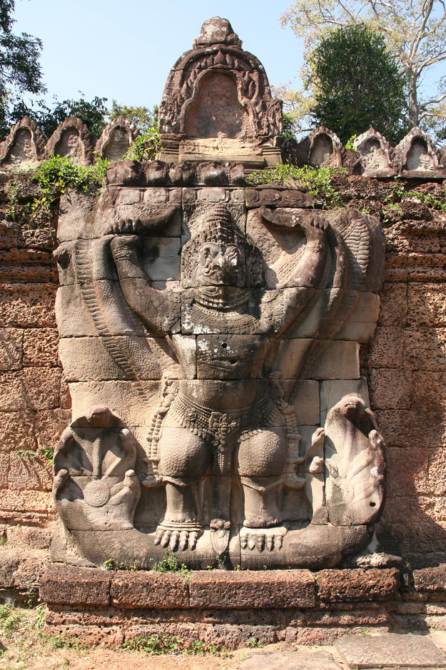 A garuda, a carved stone eagle-like divine being, 2007