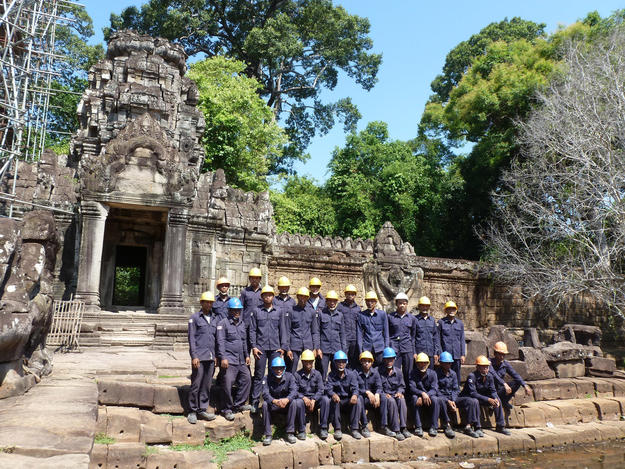 Our conservation team at Preah Khan, 2013