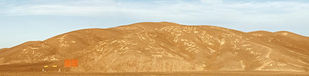 A panoramic view of the main site of the Chug-Chug Geoglyphs, 2012