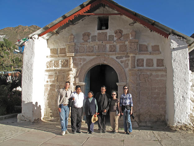 Members of our conservation team at San Santiago, 2011