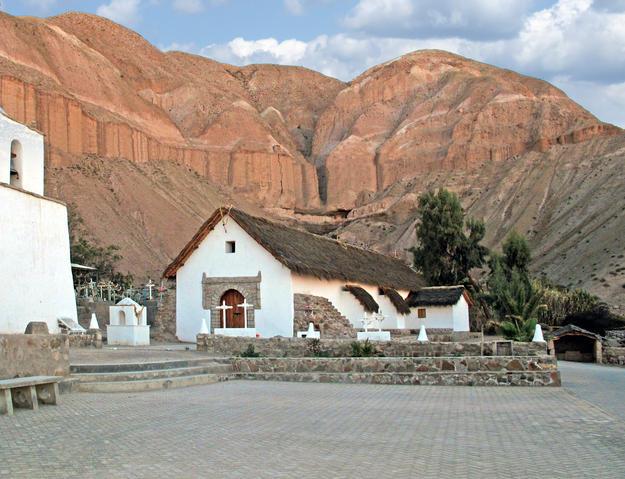 Church and tower of San Pedro de Esquiña after conservation, 2011