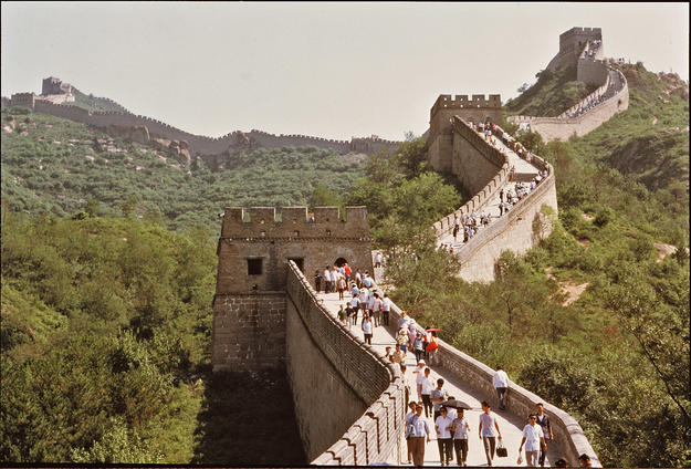 Tourists at the Great Wall, 2000