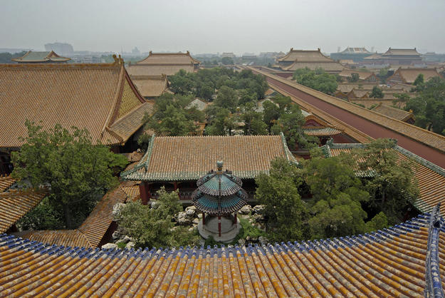 View of the garden complex from above, 2008