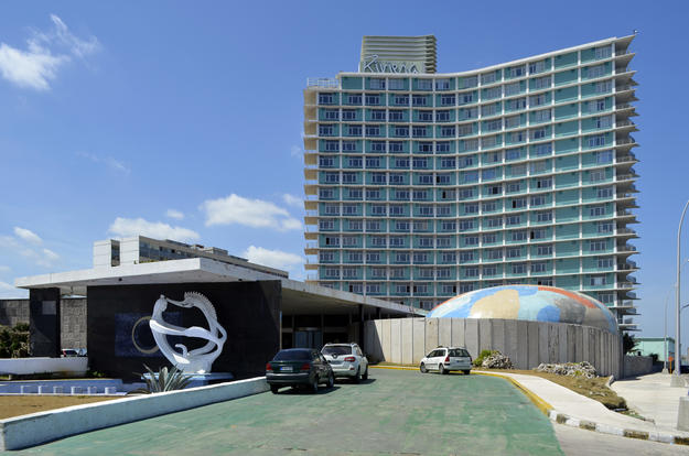 The Hotel Habana Riviera in El Vedado, designed in 1957 by the architectural firm Polevitzky, Johnson and Associates, 2014