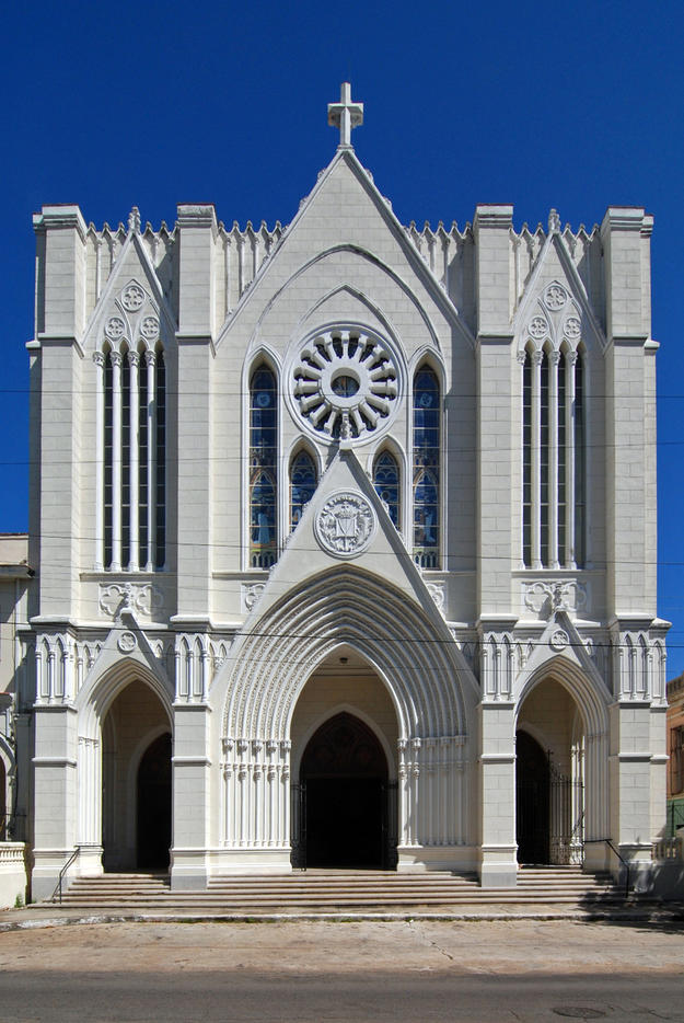The Church of St. John Lateran in El Vedado, built in 1926 by architect JoaquÌn Weiss, 2014