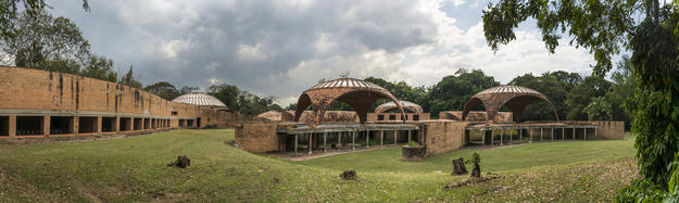 View of the never-completed School of Ballet and the surrounding landscape, 2015
