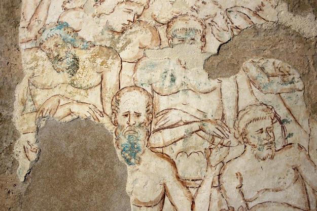 The Forty Martyrs of Sebaste fresco, after conservation, 2012