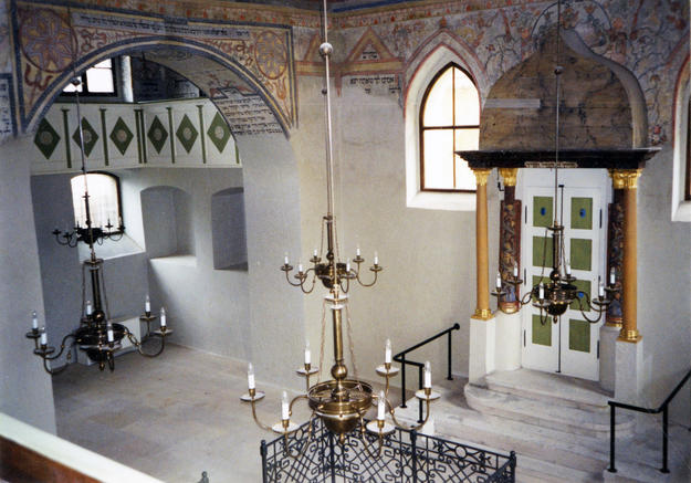 The vault of the main hall from the east, 2002