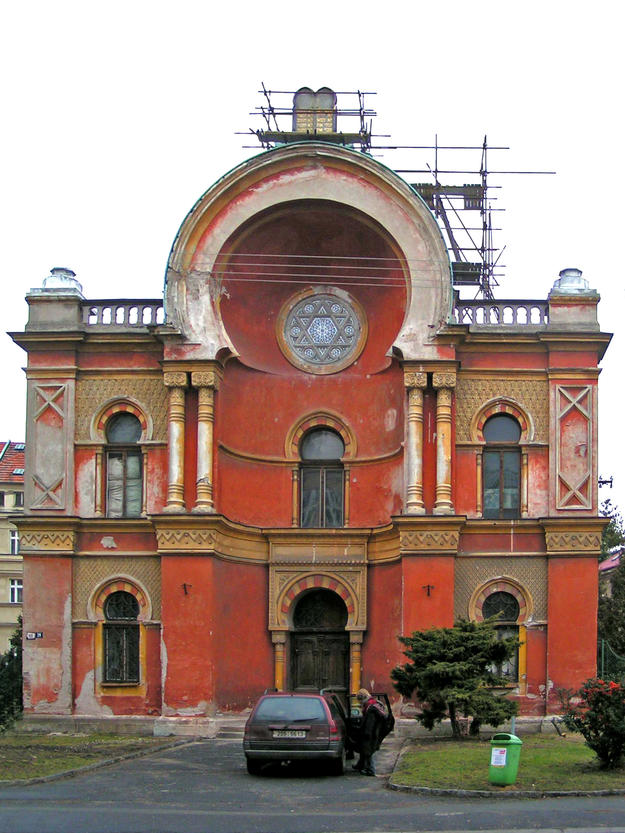 Façade displaying the Moorish Revival style , 2004